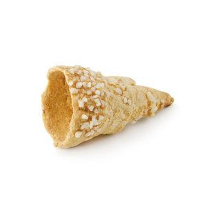 Mini cono de hojaldre prensado con azúcar perlado de hojaldre de 60 mm