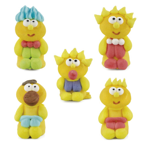 Figuras de azúcar familia Pérez
