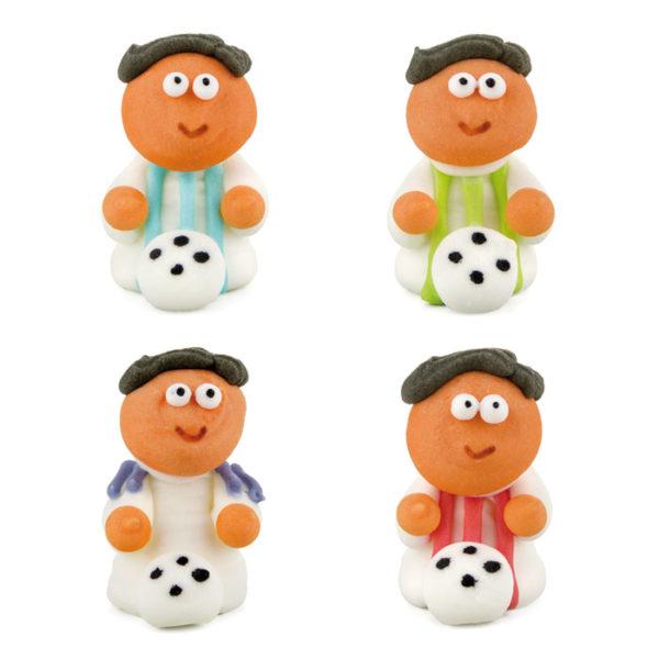 Figuras de azúcar futbolistas