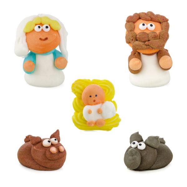 Figuras de azúcar nacimiento