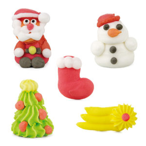 Figuras de azúcar navidades