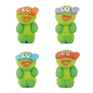 Figuras de azúcar tortugas ninja