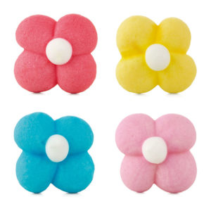 Flores mini de azúcar