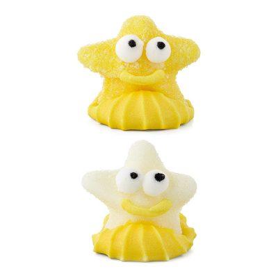 Figuras estrellas de gominola y azúcar