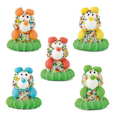 Figuras de gominolas multicolor