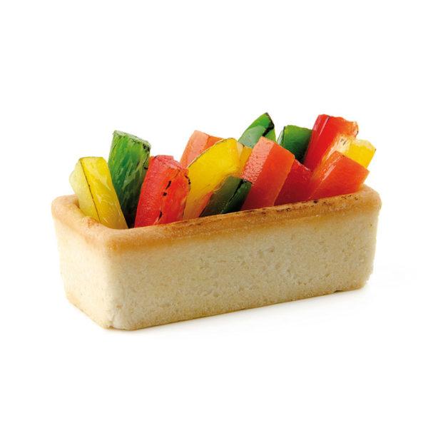 Tartaleta lingote rectangular