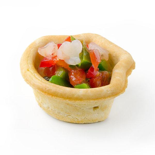 Tartaleta con forma de concha
