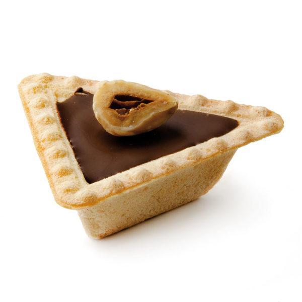 Tartaleta triangulo con chocolate