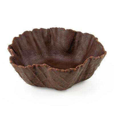 Tulipa de barquillo de chocolate