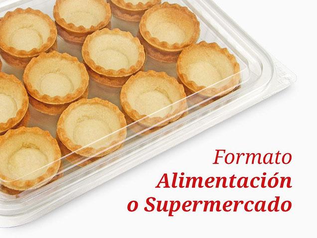 Tartaletas en formato para Alimentación y Supermercados