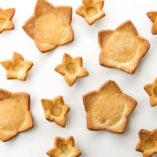 Tartaletas estrellas y mini estrellas de pasta brisa