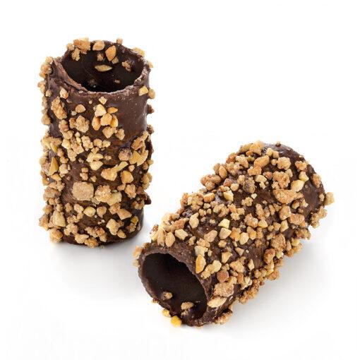 mini caña barquillo chocolate crocanti