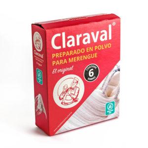 Estuche 6 sobres 12,5 gramos preparado para merengue en polvo Claraval