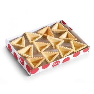 Estuche blister de tartaletas triángulo