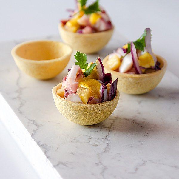 Tartaleta salada forma semiesfera